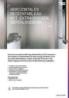 synergy horizontal COP elevator