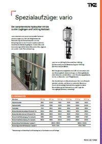 vario, der variantenreiche Hydraulik-Aufzug mit bis zu drei Zugängen