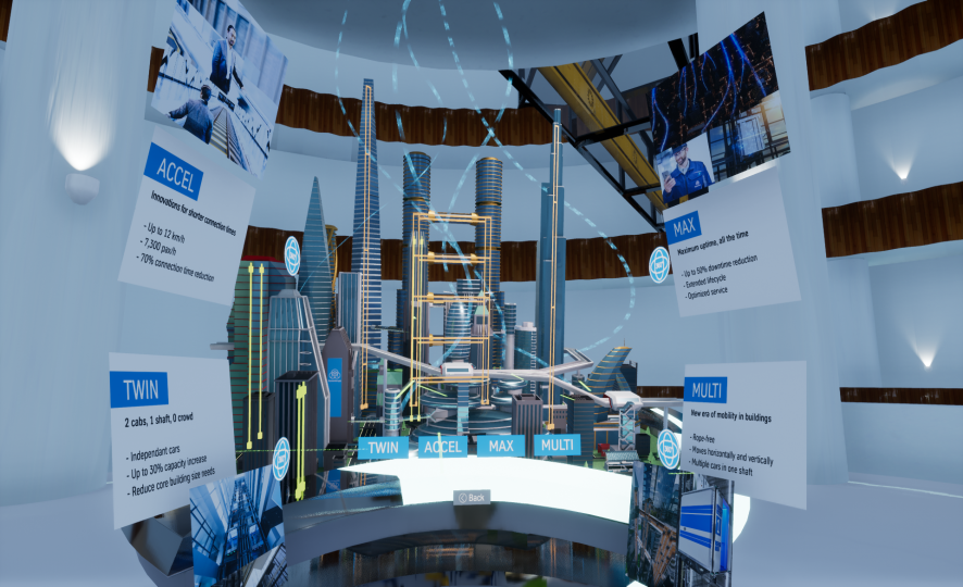 Discover an impressive VR experience with the thyssenkrupp VR showroom