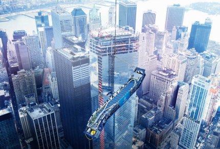 Flytter mennesker i One World Trade Center