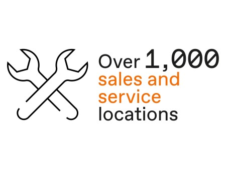 Over 900 sales and service locations