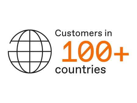 Customers in 100+ countries