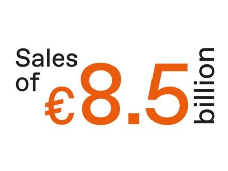 Sales of EUR 8 bilion