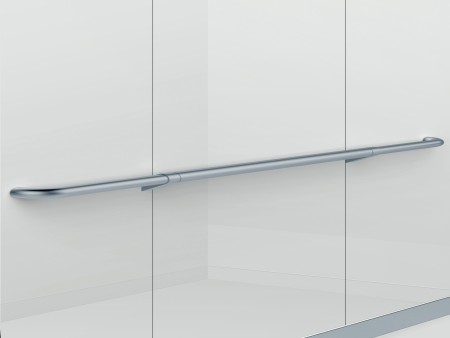Handrail Satin Silver Sloped