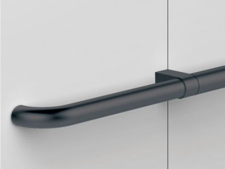 Handrail black straight