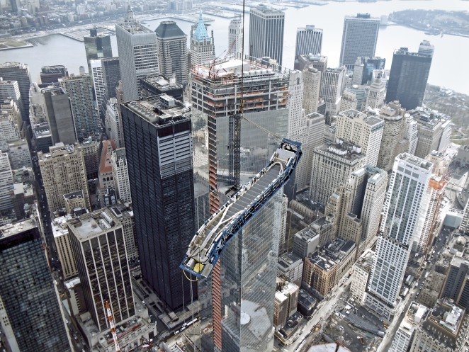 One World Trade Center - Fahrtreppenmontage
