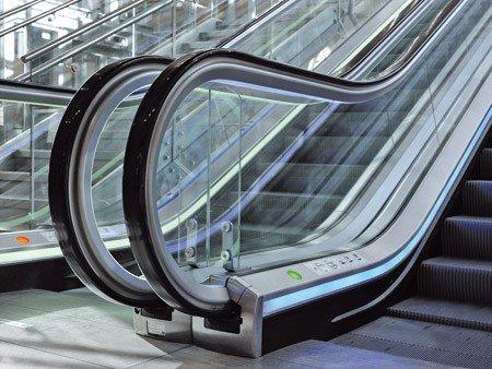 Escaleras mecánicas tugela - Semáforos: cubrezócalo o zona final de la balaustrada
