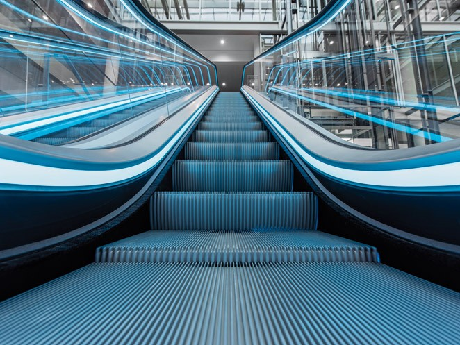 Velino escalator - Exceptionally streamlined