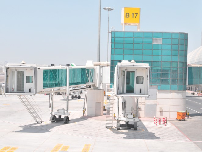 Strategic security element - passenger boarding bridges