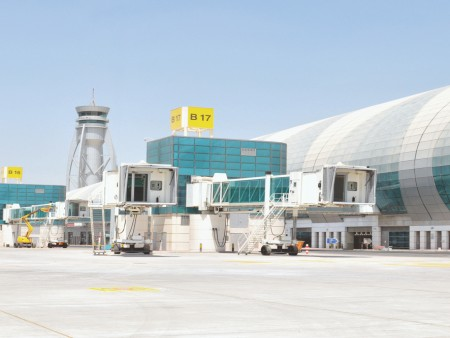 Passenger boarding bridges - Dubai Airport, United Arab Emirates