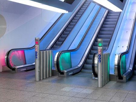 Metro Amsterdam - escalators