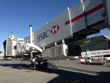 Passenger boarding bridges - Calgary International Airport, Canada