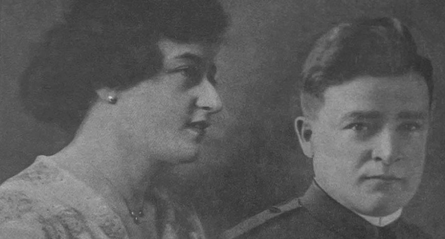 Peter Lunati in a US Army Uniform with his wife.