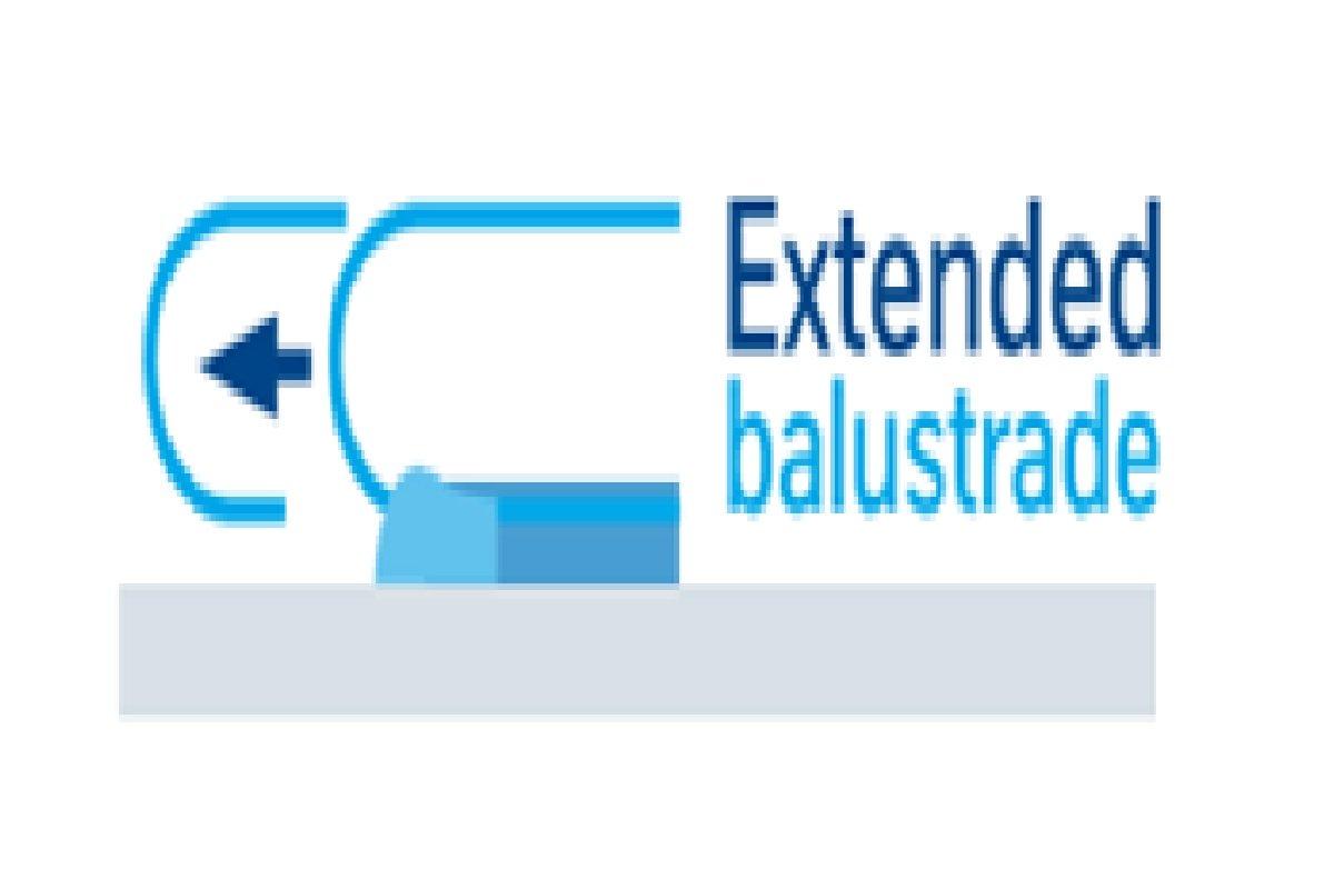 Extended handrail guidance